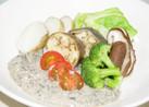 温野菜の塩昆布ソース添え