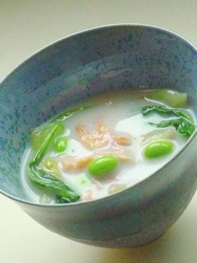 塩鮭と青菜のクリーム煮