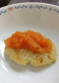 離乳食に☆卵なし豆腐ハンバーグ☆