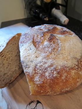 捏ねないパン!バリッもっちりカンパーニュ