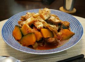 鶏と旬野菜のトマトヨーグルト煮