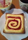 簡単朝食メニュー◎渦巻きトースト◎