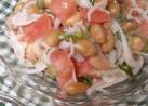 納豆のしらす、トマト和え柚子胡椒風味