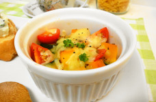 *南瓜とミニトマトのチーズ焼き*