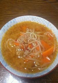 白滝ラーメン?!ピリ辛担々スープ☆