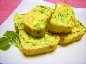 お弁当にも❤豆苗とチーズの卵焼き❤