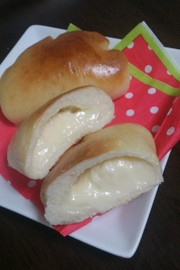 爆発しないクリームパンの成形の写真