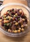 ひよこ豆とキドニービーンズのデリ風サラダ