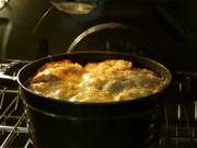 ストウブで作る オニオングラタンスープの写真