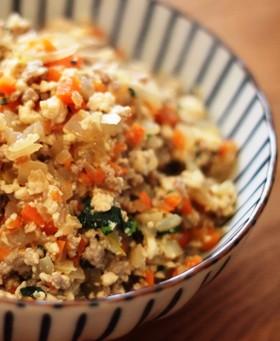 【糖質制限】野菜たっぷり!簡単炒り豆腐