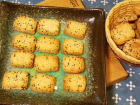 黒ごまおからクッキー