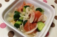 超簡単☆トマトときゅうりのさっぱりサラダ