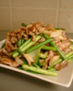 Mei-mei亭☆豚肉とニンニクの芽の炒め物