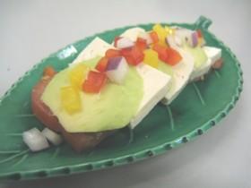 ちょっぴり和風なアボカドサラダ