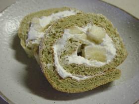 ◆フワやわ~の抹茶バナナロールケーキ◆