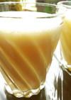 バナナとオレンジの生ジュース