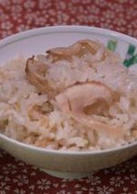 秋のメニュー 松茸ご飯