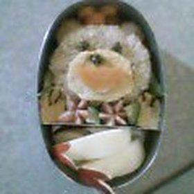 デカチビが遠足なので◆らぶり~クマさん弁当◆大好物で愛を深めよう作戦