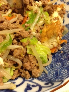 厚揚げ入り肉野菜炒め
