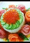 母の日♪記念日♪誕生日に♪花の寿司ケーキ