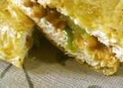 油揚げ(厚揚げ)のネギ味噌納豆挟み焼き