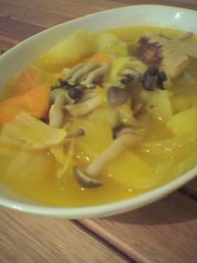 野菜とろとろ黄色いポトフ ちょっと和風