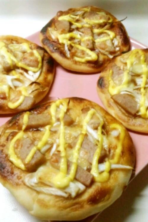 照り焼きスパムピザ