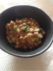 納豆+アボカドオイル+トマトジュースの写真