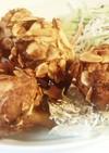 アーモンドの鶏チューリップ揚げ