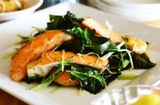 鮭とわかめの生姜炒め【作りおき】