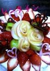 バレンタインに苺のデコケーキ