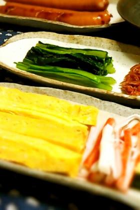 手巻き寿司の玉子焼き♪