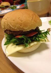 フワフワバンズの手作りハンバーガー