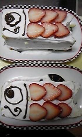 手抜き★カステラでこいのぼりケーキ♪