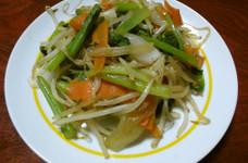 小松菜で野菜炒め