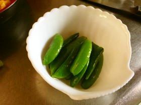 スナップえんどう炒め 簡単レシピ