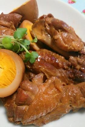 ゆで卵と鶏手羽元のやわらか煮☆