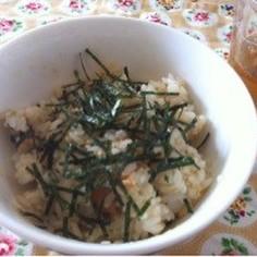 簡単♪わさびが香る、梅と塩昆布の混ぜご飯