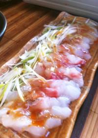 鯛のお刺身 中華風カルパッチョ