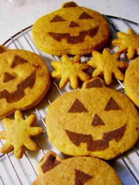 ハッピーハロウィンクッキー(ホットケーキミックスを使って)