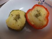 マッシュポテト&チーズのパプリカ詰めの写真