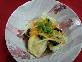 もちもち♡揚げ出し高野豆腐のあんかけ♪