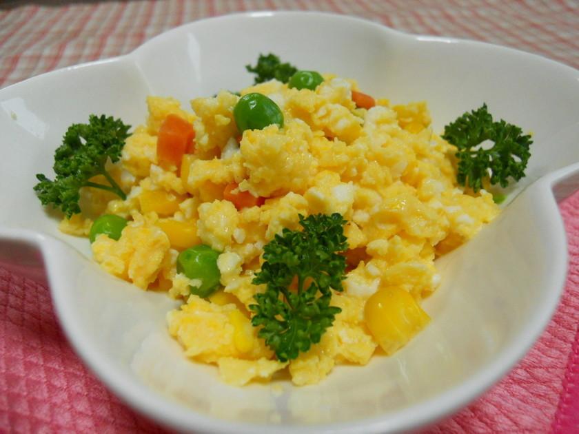 電子レンジDE簡単☆彩り綺麗な炒り卵