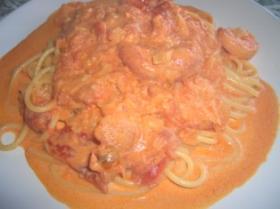 海老トマトクリームスパゲッティー