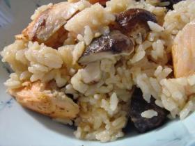 ☆鮭と椎茸の炊き込みご飯☆
