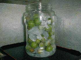 梅シロップ(ジュース)冷凍バージョン