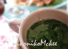 香る♪セロリの葉だけのウェイパースープ