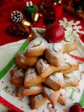 一足早いクリスマス♪黒糖のお星様パン