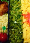 三色丼、緑はコレ!!