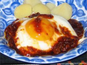 ★トロ~リ卵のせハンバーグ